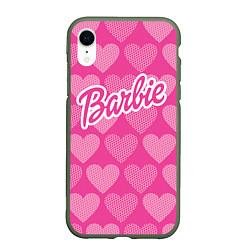 Чехол iPhone XR матовый Barbie цвета 3D-темно-зеленый — фото 1