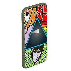 Чехол iPhone XR матовый Pink Floyd цвета 3D-темно-зеленый — фото 2