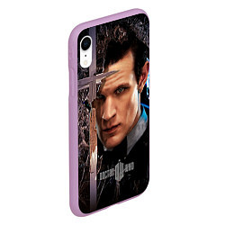 Чехол iPhone XR матовый Доктор кто цвета 3D-сиреневый — фото 2