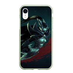 Чехол iPhone XR матовый Phantom Assassin цвета 3D-салатовый — фото 1