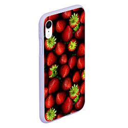 Чехол iPhone XR матовый Клубничка цвета 3D-светло-сиреневый — фото 2