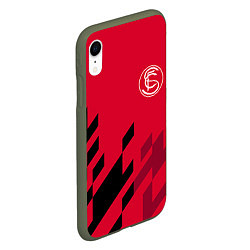 Чехол iPhone XR матовый Sevilla FC цвета 3D-темно-зеленый — фото 2