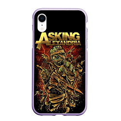 Чехол iPhone XR матовый Asking Alexandria цвета 3D-светло-сиреневый — фото 1
