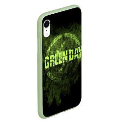 Чехол iPhone XR матовый Green Day: Acid Voltage цвета 3D-салатовый — фото 2