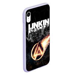 Чехол iPhone XR матовый Linkin Park: Comet цвета 3D-светло-сиреневый — фото 2