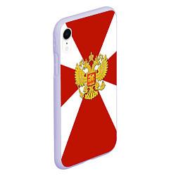 Чехол iPhone XR матовый Флаг ВВ цвета 3D-светло-сиреневый — фото 2