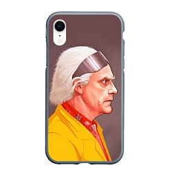 Чехол iPhone XR матовый Доктор Браун цвета 3D-серый — фото 1