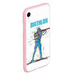 Чехол iPhone XR матовый Биатлон цвета 3D-баблгам — фото 2