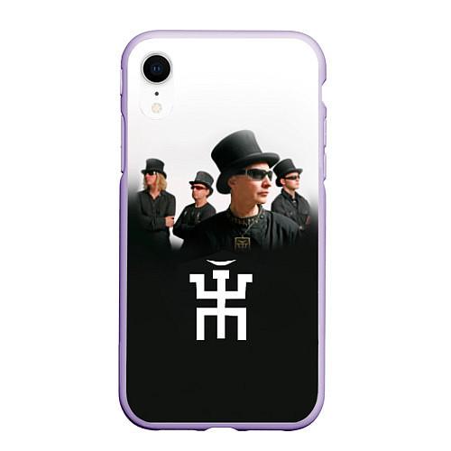 Чехол iPhone XR матовый Пикник / 3D-Светло-сиреневый – фото 1