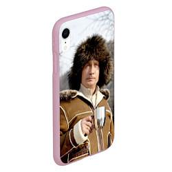 Чехол iPhone XR матовый Путин Владимир цвета 3D-розовый — фото 2