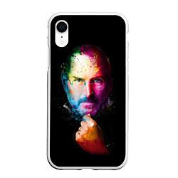 Чехол iPhone XR матовый Стив Джобс цвета 3D-белый — фото 1