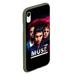 Чехол iPhone XR матовый Muse Band цвета 3D-темно-зеленый — фото 2