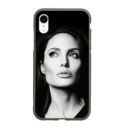 Чехол iPhone XR матовый Mono Jolie цвета 3D-темно-зеленый — фото 1