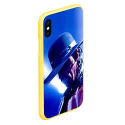 Чехол iPhone XS Max матовый Гробовщик 4 цвета 3D-желтый — фото 2