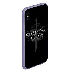 Чехол iPhone XS Max матовый Shadow of War цвета 3D-серый — фото 2