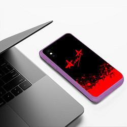 Чехол iPhone XS Max матовый АлисА на спине цвета 3D-фиолетовый — фото 2