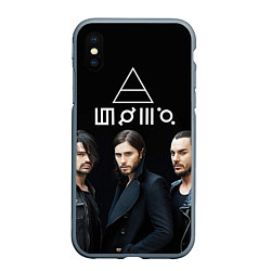 Чехол iPhone XS Max матовый 30 seconds to mars цвета 3D-серый — фото 1