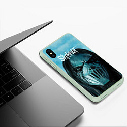 Чехол iPhone XS Max матовый Slipknot цвета 3D-салатовый — фото 2