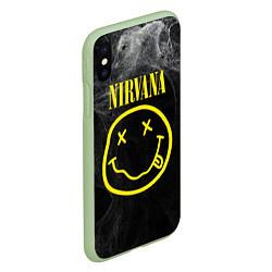 Чехол iPhone XS Max матовый Nirvana Smoke цвета 3D-салатовый — фото 2