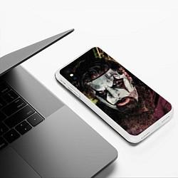 Чехол iPhone XS Max матовый Slipknot Face цвета 3D-белый — фото 2