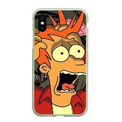 Чехол iPhone XS Max матовый Frai Horrified цвета 3D-салатовый — фото 1