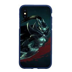 Чехол iPhone XS Max матовый Phantom Assassin цвета 3D-тёмно-синий — фото 1