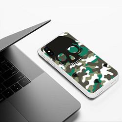 Чехол iPhone XS Max матовый Камуфляж цвета 3D-белый — фото 2