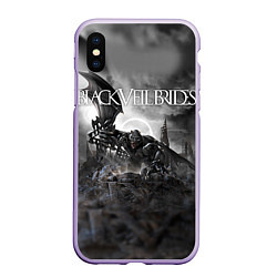Чехол iPhone XS Max матовый Black Veil Brides: Faithless цвета 3D-светло-сиреневый — фото 1