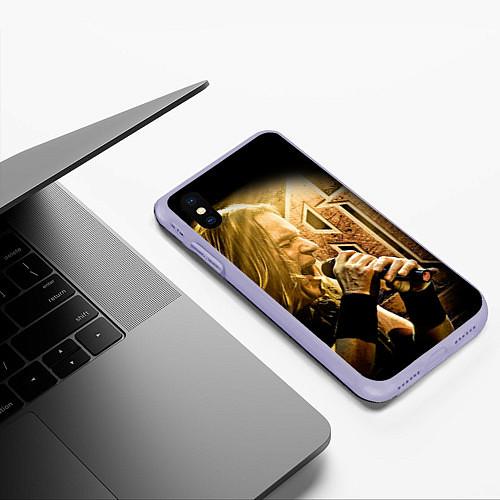 Чехол iPhone XS Max матовый Кипелов: Ария / 3D-Светло-сиреневый – фото 3