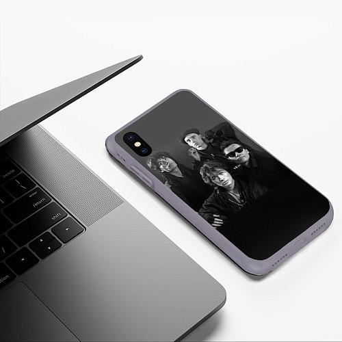 Чехол iPhone XS Max матовый Группа Кино / 3D-Серый – фото 3