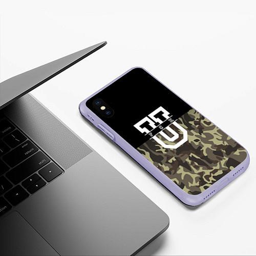 Чехол iPhone XS Max матовый FCK U: Camo / 3D-Светло-сиреневый – фото 3