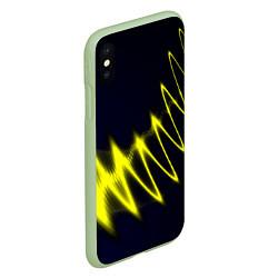 Чехол iPhone XS Max матовый Молния цвета 3D-салатовый — фото 2
