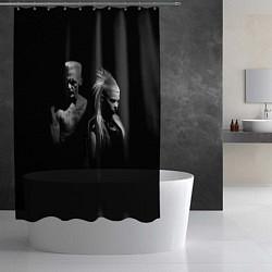 Шторка для душа Die Antwoord: Black цвета 3D-принт — фото 2