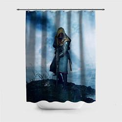 Шторка для душа Battlefield Warrior цвета 3D-принт — фото 1