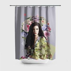 Шторка для душа Lorde Floral цвета 3D-принт — фото 1