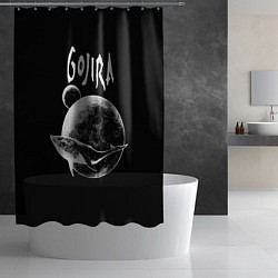 Шторка для душа Gojira: Space цвета 3D — фото 2