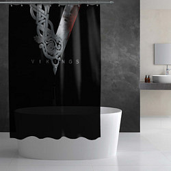 Шторка для душа Vikings Emblem цвета 3D — фото 2