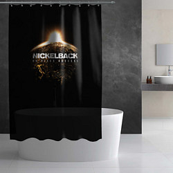 Шторка для душа Nickelback: No fixed address цвета 3D-принт — фото 2