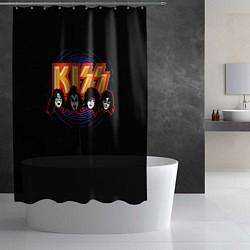 Шторка для душа KISS: Death Faces цвета 3D-принт — фото 2