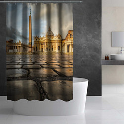 Шторка для душа Площадь святого Петра цвета 3D-принт — фото 2