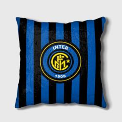 Подушка квадратная Inter FC 1908 цвета 3D-принт — фото 1