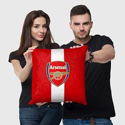 Подушка квадратная Arsenal FC: Red line цвета 3D-принт — фото 2