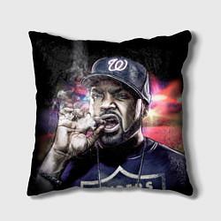 Подушка квадратная Ice Cube: Big boss цвета 3D-принт — фото 1