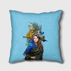 Подушка квадратная Lana Del Rey: Tropical цвета 3D-принт — фото 1