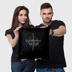 Подушка квадратная Shadow of War цвета 3D-принт — фото 2