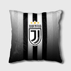 Подушка квадратная Juventus FC: New logo цвета 3D — фото 1