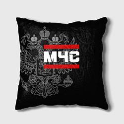 Подушка квадратная МЧС: герб РФ цвета 3D — фото 1