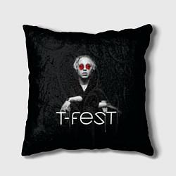Подушка квадратная T-Fest: Black Style цвета 3D — фото 1