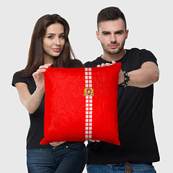 Подушка квадратная Грузия цвета 3D — фото 2