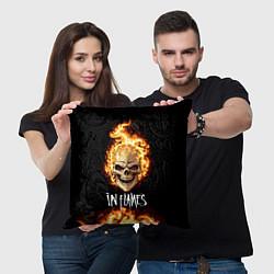 Подушка квадратная In Flames цвета 3D-принт — фото 2